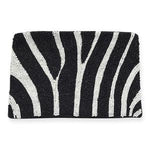 Ink + Alloy - Beaded Clutch (Zebra)