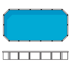 Whitsunday 5.0m x 3.8m Rectangular Resin Above ground Pool