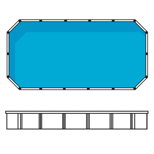 Whitsunday 7.4m x 3.8m Rectangular Resin Above Ground Pool
