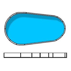 Whitsunday 8.38 x 5.36 x 3m Raindrop / Teardrop Resin Flat Bottom Pool
