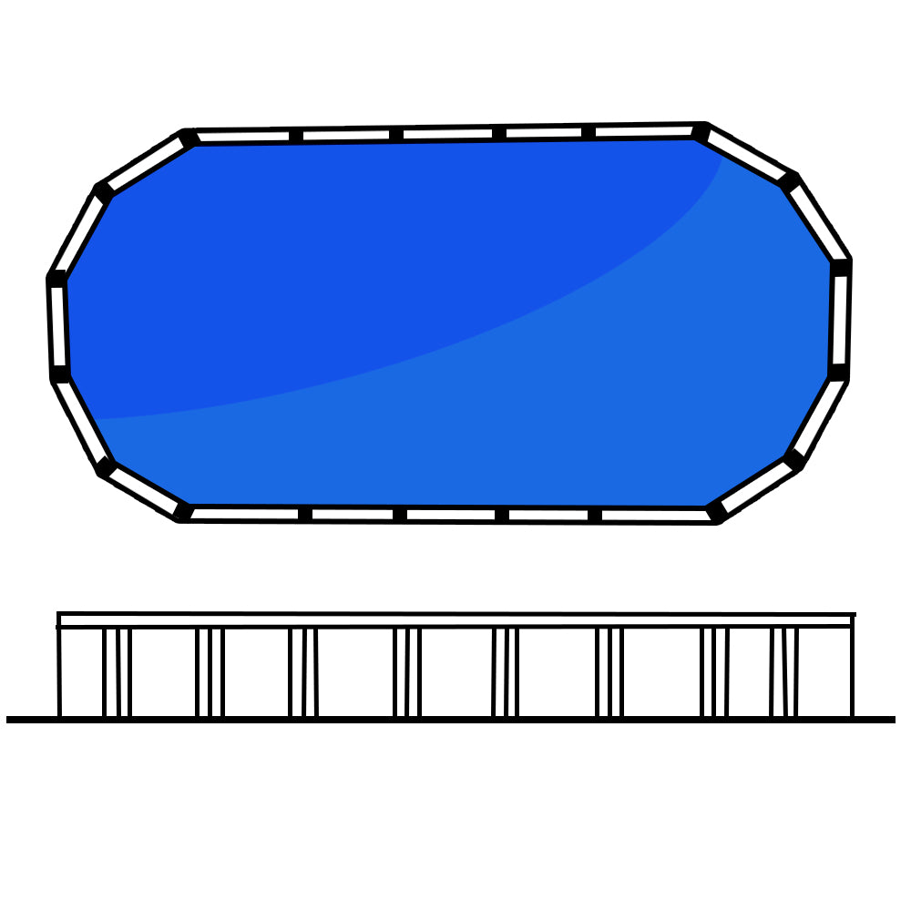 Lindeman 4' 27 x 15 (8.16 x 4.56m) Oval Freshwater Above Ground Swimming Pool