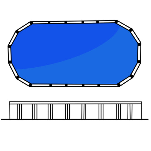 Lindeman 4' 16 x 12 (5.0 x 3.8m) Oval Freshwater Above Ground Swimming Pool