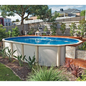 Shoal Bay Deep End 28 x 12 ( 8.22m x 3.66m x 1.8m Deep End ) Oval Resin Above Ground Swimming Pool