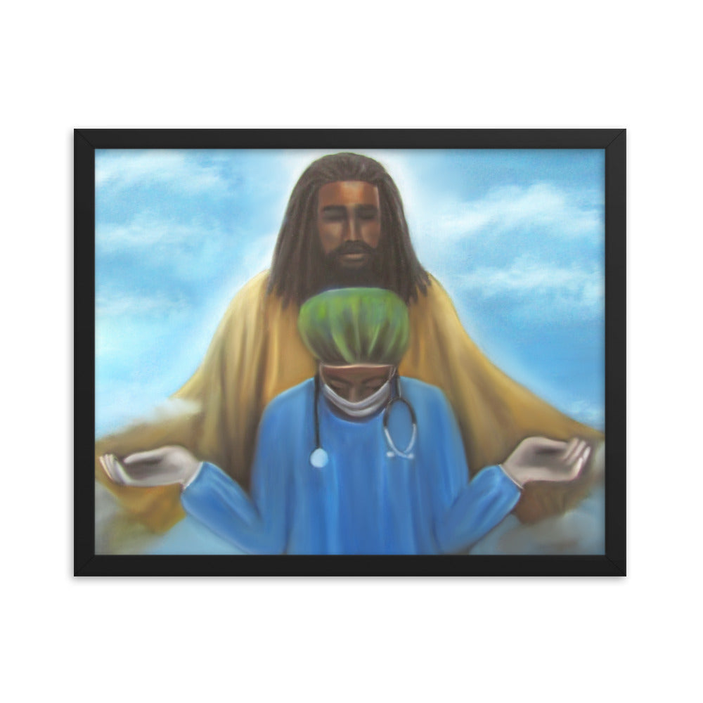 A Prayer For Protection - Framed Print