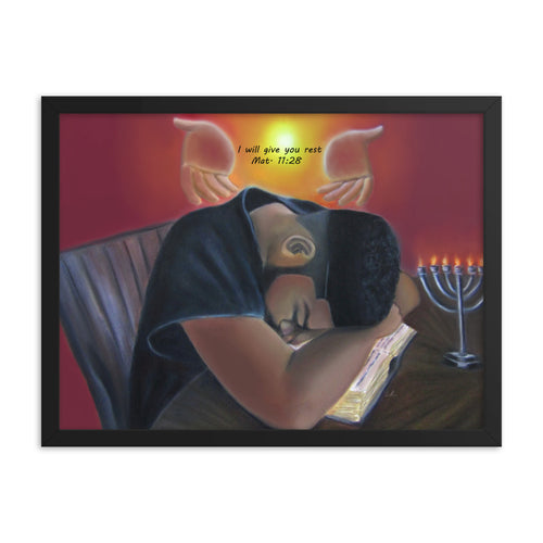 I Will Give You Rest - Framed Print