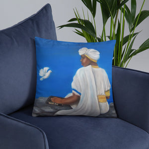 Mount Zion Painting On A Pillow