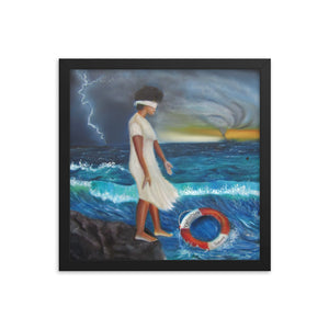 Stepping Out On Faith -Framed Print