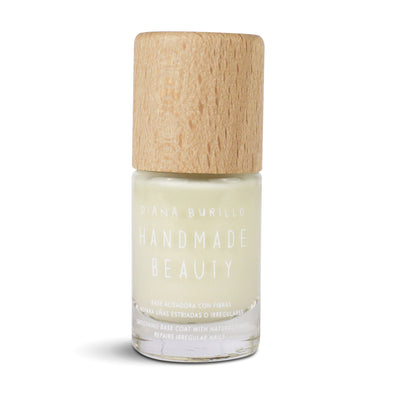 Handmade Beauty Toxic Free, Nail Polish Smoothing Basecoat With Fibers - HANDMADE BEAUTY COSMETICS LLC