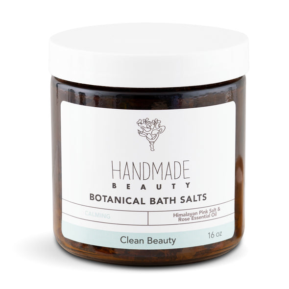 Botanical Bath Salts 16 oz - Handmade Beauty