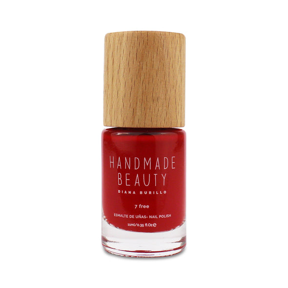 Handmade Beauty Toxic Free, Nail Polish, Color Pomegranate. - HANDMADE BEAUTY COSMETICS LLC