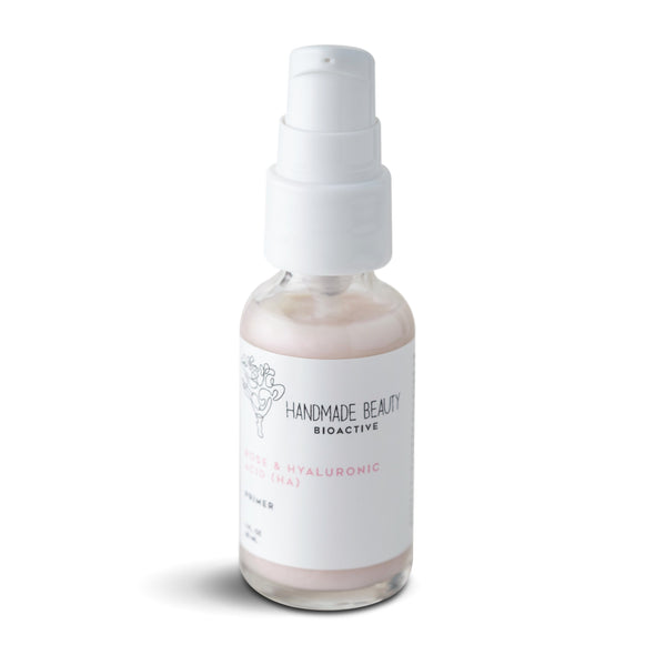 Handmade Beauty Rose & Hyaluronic Acid (HA) Primer 1 OZ (30 ML) - HANDMADEBEAUTY