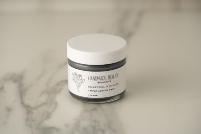 Charcoal & Kaolin Triple Action Mask 2 oz (60 ML) - Handmade Beauty