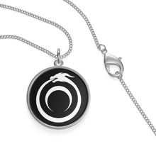 Load image into Gallery viewer, Styx Ouroboros Sterling Silver or 18k Gold Plated Amulet