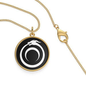 Styx Ouroboros Sterling Silver or 18k Gold Plated Amulet