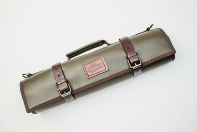 Matcha Leather Knife Bag Itamae