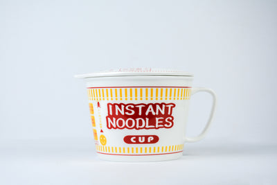 Porcelain Cup Noodle Bowl Home Itamae Red