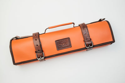 Yūjō Brown Accents Leather Knife Bag Itamae