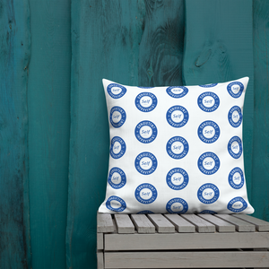 Consistent Self Improvement Pattern Pillow (Blue)