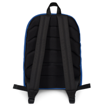 Load image into Gallery viewer, Consistent Self Improvement Backpack (Blue Logo)