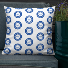 Load image into Gallery viewer, Consistent Self Improvement Pattern Pillow (Blue)