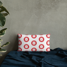 Load image into Gallery viewer, Consistent Self Improvement Pattern Pillow (Red)