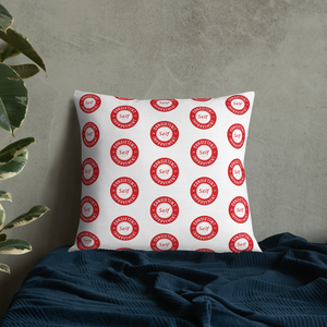 Consistent Self Improvement Pattern Pillow (Red)