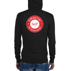Consistent Self Improvement Unisex zip hoodie