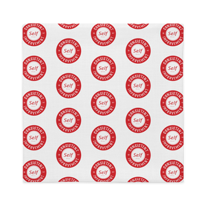 Consistent Self Improvement Pillow Case (Red)