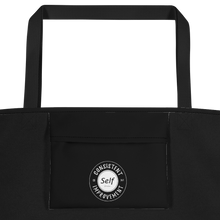 Load image into Gallery viewer, Consistent Self Improvement Black Beach Bag