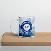 Load image into Gallery viewer, Consistent Self Improvement Blue Mug
