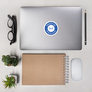 Consistent Self Improvement Bubble-free stickers (Blue)