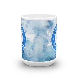 Consistent Self Improvement Blue Mug