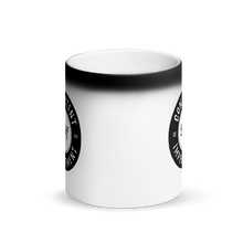 Load image into Gallery viewer, CSI Matte Black Mug transforms when hot! (Black Logo)
