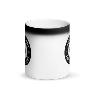 CSI Matte Black Mug transforms when hot! (Black Logo)