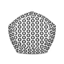 Load image into Gallery viewer, CSI Black Pattern Bean Bag Chair w/ filling