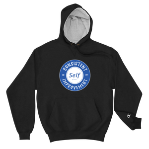 Consistent Self Improvement Champion Hoodie (Blue)