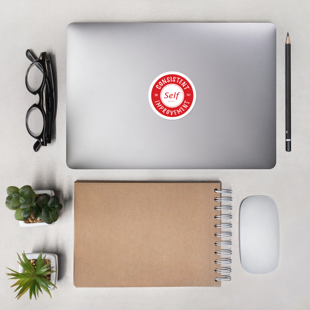 Consistent Self Improvement Bubble-free stickers (Red)