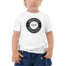 Load image into Gallery viewer, Consistent Self Improvement Toddler T-Shirt (Black Logo)