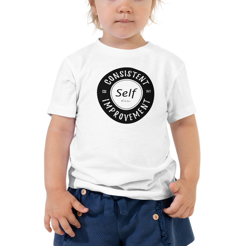 Consistent Self Improvement Toddler T-Shirt (Black Logo)