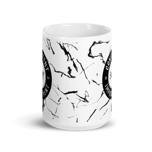 Consistent Self Improvement Marble Pattern Mug (Black)