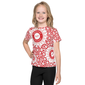 Consistent Self Improvement Kids Pattern T-Shirt (Red/Pink)