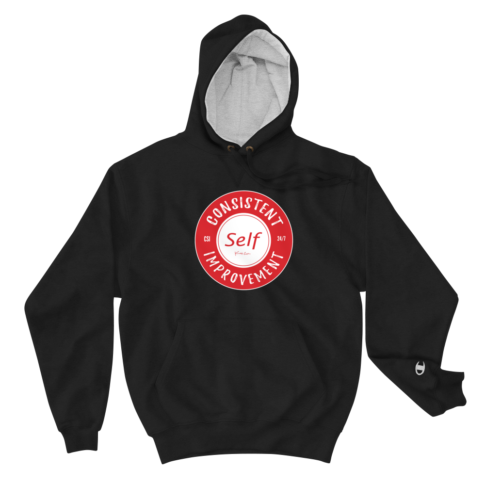 Consistent Self Improvement Champion Hoodie (Red)