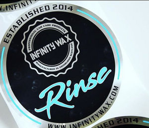 WASH, RINSE, WHEELS Bucket Stickers