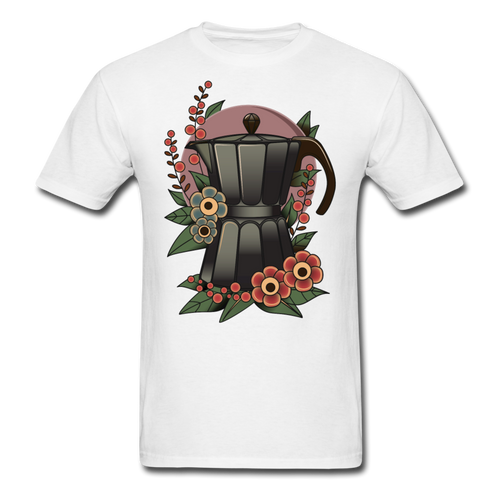 Coffee Pot White Tee - white