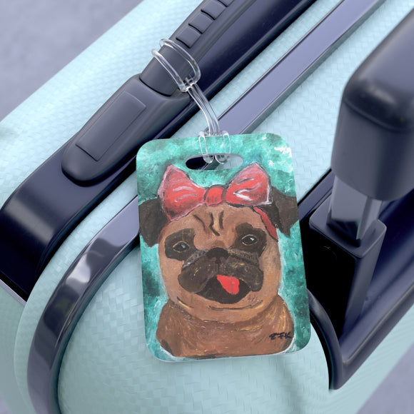 Bag Tag / Luggage Tag / Pug Dog / Travel Tag