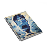 Blue Man - Lil' Spiral Notebook - Ruled Line