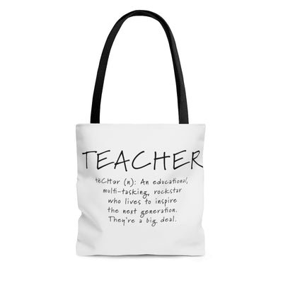 Teacher Tote, Educational Multi-Tasking Rockstar, Bag, Teacher Gift, Back to School, Beach Bag