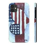Phone Case, iPhone Case, iPhone 7 Case, iPhone 8 Case, iPhone 11 American Flag Love