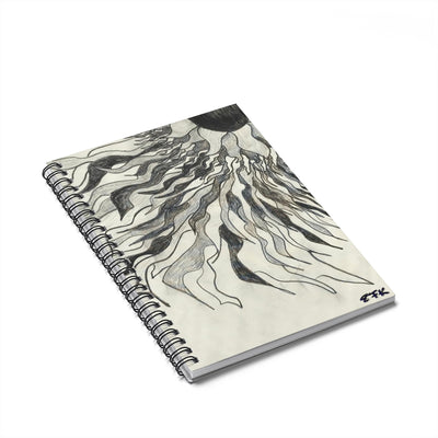 BW Sun - Lil' Spiral Notebook - Ruled Line