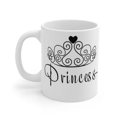 Princess Mug, 11oz Mug, Coffee Mug, Mug for Her, Birthday Gift, Christmas Gift, Coffee Gift